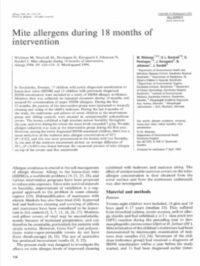 Mite allergens during 18 months of intervention - first page